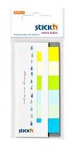 Samolepící papírová záložka Stick'n 45x15mm 6 x 30 lístků letní barvy