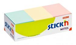 Samolepicí bločky Stick'n 38 x 51mm 3 pastelové barvy 100 listů 12 bločků