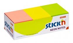 Samolepicí bločky Stick'n 38 x 51mm 3 neonové barvy 100 listů 12 bločků
