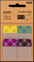"""Samolepící plastové záložka Stick'n  In Blooom 38 x 25 mm extra pevná, 4x10 záložek """"čtverce"""""""