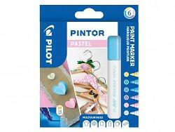 Popisovač pigmentový Pilot PINTOR pro DIY použití hrot M 6-sada Pastel