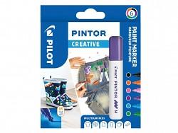 Popisovač pigmentový Pilot PINTOR pro DIY použití hrot M 6-sada Creative dříve Fun