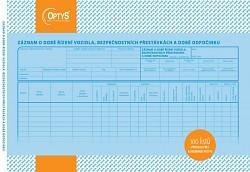 Záznam o době řízení vozidla a bezpečnostních přestávkách OPTYS
