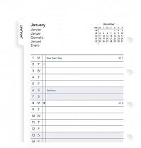 Poznámkový blok FILOFAX NOTEBOOK kapesní - A7 kalendář měsíční plánovací