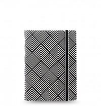 Poznámkový blok FILOFAX NOTEBOOK IMPRESSIONS A7 kapesní černá/bílá deco