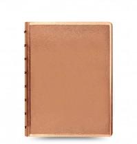 Poznámkový blok FILOFAX NOTEBOOK SAFFIANO METALLIC A5 rose gold