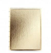 Poznámkový blok FILOFAX NOTEBOOK SAFFIANO METALLIC A5 gold