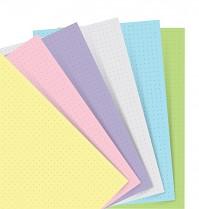 Poznámkový blok FILOFAX NOTEBOOK A7 kapesní náhradní listy pastelové tečkované