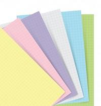 Poznámkový blok FILOFAX NOTEBOOK A7 kapesní náhradní listy pastelové čtverečkované