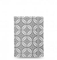 Poznámkový blok FILOFAX NOTEBOOK IMPRESSIONS A7 kapesní šedá/bílá