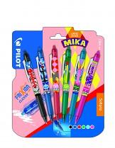 Roller gel. Pilot Frixion Clicker 0,7 mm LIMITOVANÁ EDICE MIKA  sada 6 kusů AKCE!!!