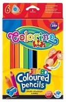 Pastelky COLORINO JUMBO trojhranné 6 barev + ořezávátko
