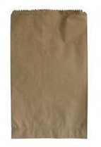 Sáček papírový 140+70x320 mm nosn. 1,5 kg bez potisku 500 ks