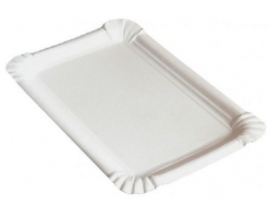 Tácek papírový 17x11 cm bílý 100 ks