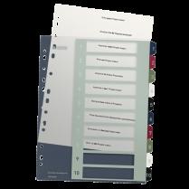 Celoplastové rejstříky Leitz Style popisovatelné na počítači A4 Maxi