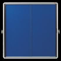 Textilní vitrína s posuvnými dveřmi Nobo, vnitřní Modrá