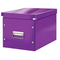 Čtvercová krabice Leitz Click&Store, velikost L (A4) Purpurová
