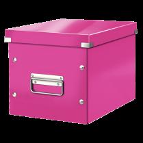 Čtvercová krabice Leitz Click&Store, velikost M (A5) Růžová