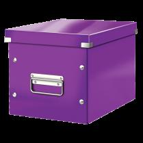 Čtvercová krabice Leitz Click&Store, velikost M (A5) Purpurová