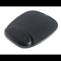 Gelová podložka pod myš s opěrkou zápěstí, černá