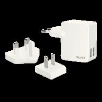 Dvojitá univerzální USB nabíječka Leitz Complete Bílá