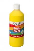 Temperová barva CREALL školní 500ml základní žlutá