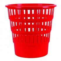 Odpadkový koš DONAU PP perforovaný 16l červený