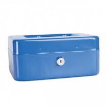 Přenosná pokladna Donau 200x160x90 mm kovová modrá