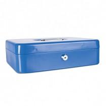 Přenosná pokladna Donau 300x240x90 mm kovová modrá