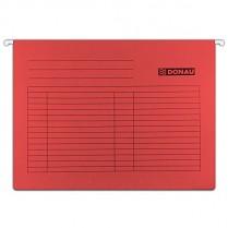 Závěsné desky DONAU karton A4 červené