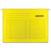 Závěsné desky DONAU karton A4 žluté