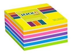 Samolepicí kostka  Stick'n 76 x 76mm mix sytých barev 400 listů