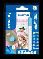 Popisovač akrylový Pilot PINTOR pro DIY použití hrot EF 6-sada Pastel