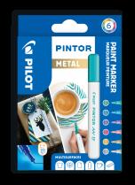 Popisovač akrylový Pilot PINTOR pro DIY použití hrot EF 6-sada METAL