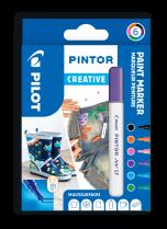 Popisovač akrylový Pilot PINTOR pro DIY použití hrot EF 6-sada Creative