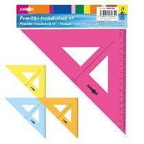 Pravítko trojúhelník s ryskou barevný mix