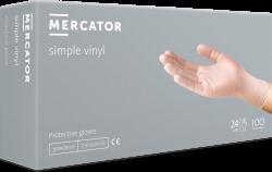 Rukavice jednorázové Mercator Simple VINYL jemně pudrované 100ks XL
