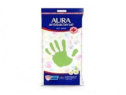 Aura Antibakteriální ubrousky na ruce a povrchy s heřmánkem 20ks