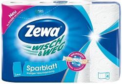 Utěrky kuchyňské Zewa Wisch & Weg 4 role bílé struktura Power-X