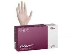 Rukavice jednorázové nepudrované vinylové 100ks XL bílé