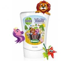 Tekuté mýdlo - Náhradní náplň DETTOL  do bezdotykového dávkovače mýdla 250ml KIDS Honey