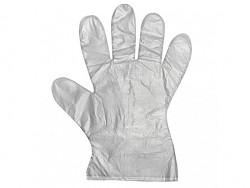 Jednorázové mikrotenové rukavice - HDPE univ. vel. L - 100ks