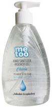 Hygienický gel na ruce MeToo  s alkoholem (66%) bezoplachový 500ml s pumpičkou
