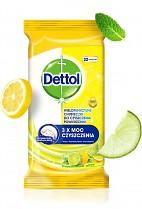 Ubrousky DETTOL vlhčené na povrchy víceúčelové antibakteriální 32ks Citron a limeta