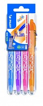 Roller gel. Pilot Frixion Ball 0,7 mm set2go NEW COLORS 4-sada
