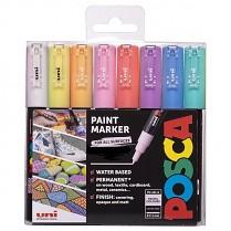 Popisovač POSCA PC-1M pro DIY použití hrot extra tenký 8-sada pastelové barvy