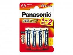 Baterie Panasonic Pro Power Gold Alkaline 4 +2 kusy zdarma tužkové AA 1,5 V
