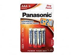 Baterie Panasonic Pro Power Gold Alkaline mikrotužkové AAA 1,5 V 4 + 2 kusy zdarma