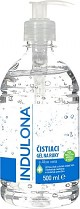 Indulona dezinfekční gel na ruce s alkoholem bezoplachový 500ml s pumpičkou
