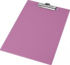 Podložka psací s klipem PANTAPLAST PVC A4 pastelově růžová
